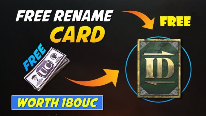 free Rename Card from PUBG