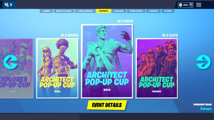 Architect Top up Cup Fortnite 2021