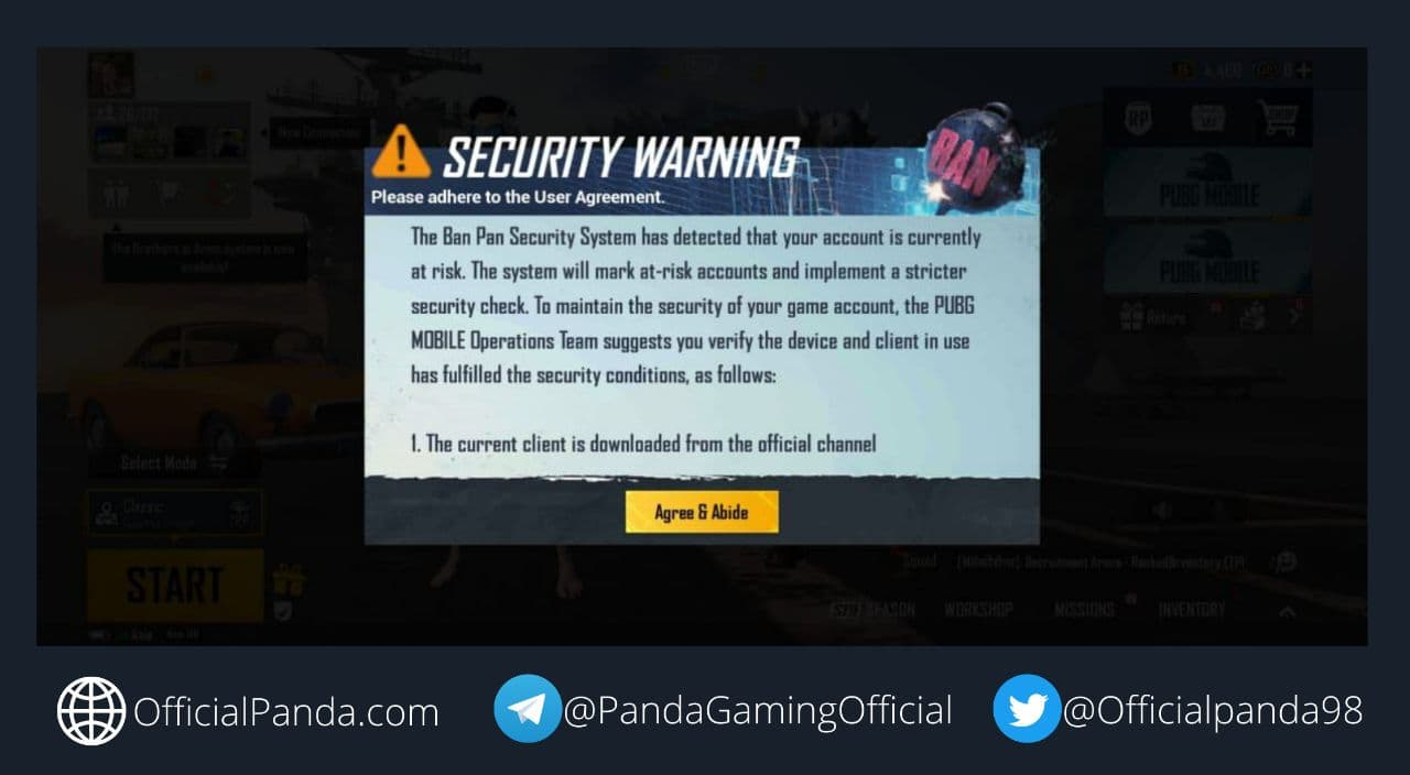 Security Warning in PUBG Mobile