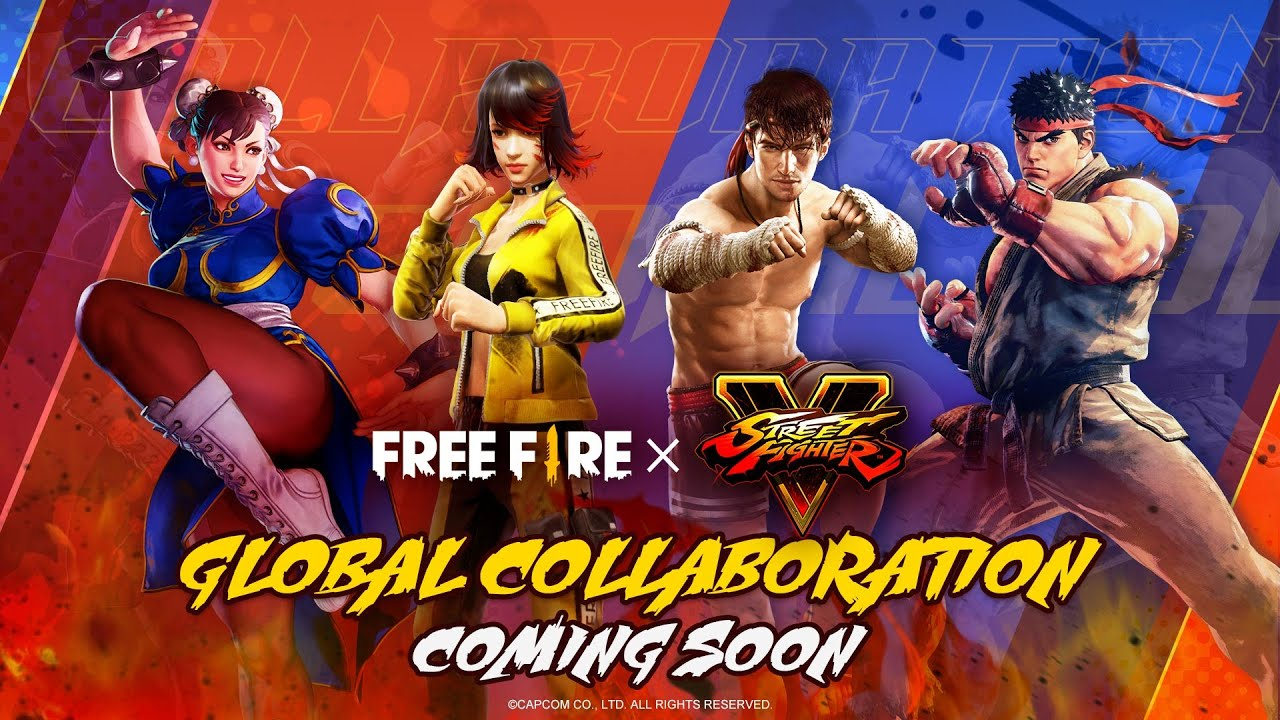 Free Fire x Street Fighter V collaboration