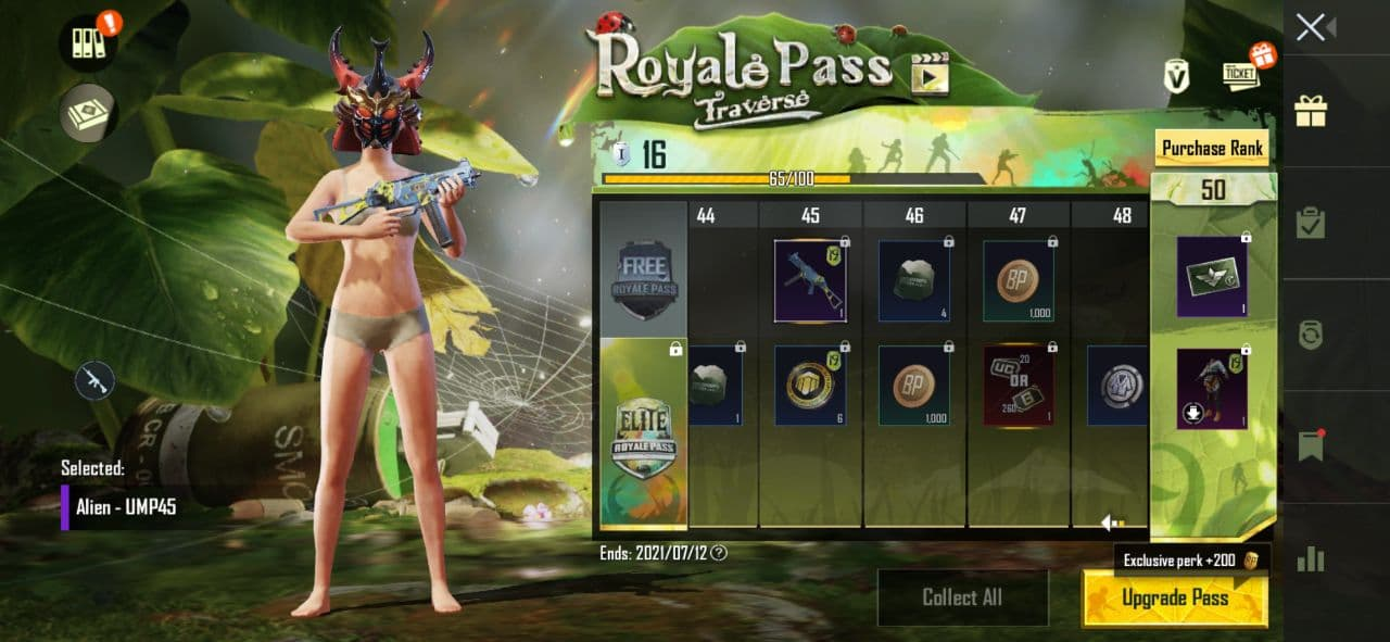 BGMI: Cost of Royal pass and RP Rewards