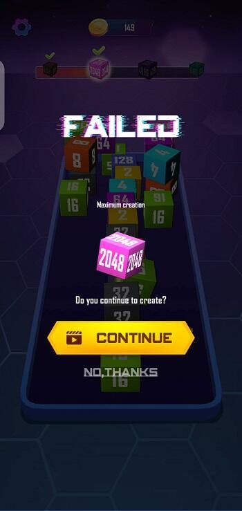 FF 2048 Cube Winner