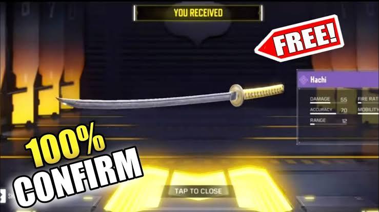 Hachi Sword free in cod Season 6