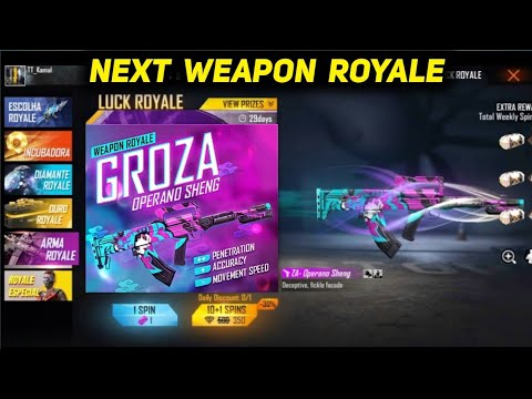 Next Weapon Royale in Free Fire (FF) August 2021