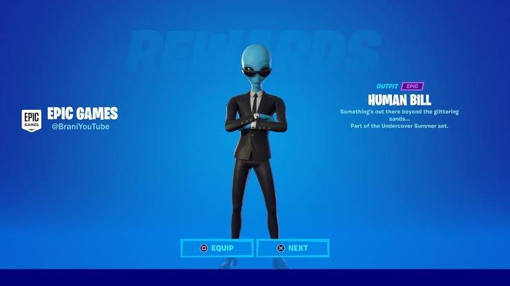 Human Bill Skin in Fortnite