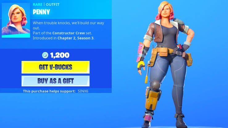 Penny Fortnite Battle Royale Rare Outfit