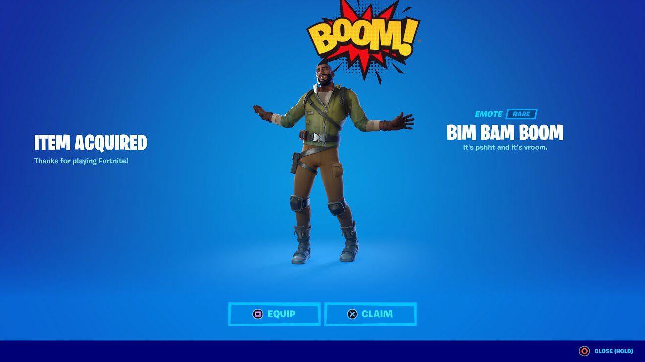 Bim Bam Boom Emote Fortnite