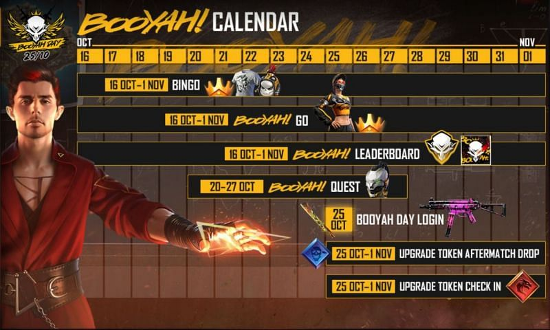 Free Fire Booyah Day event