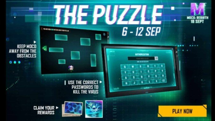 Moco Puzzle Event Password Free Fire