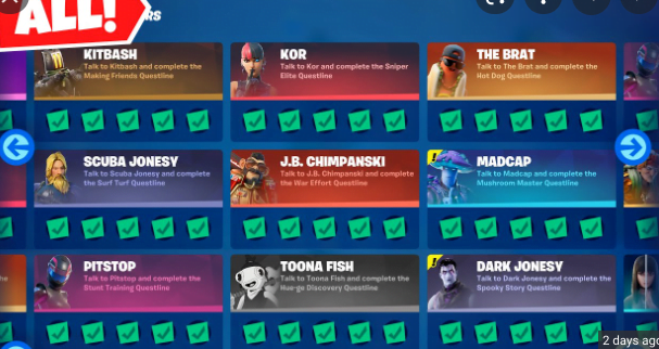 Fortnite all wrath character punch cards challenge guide