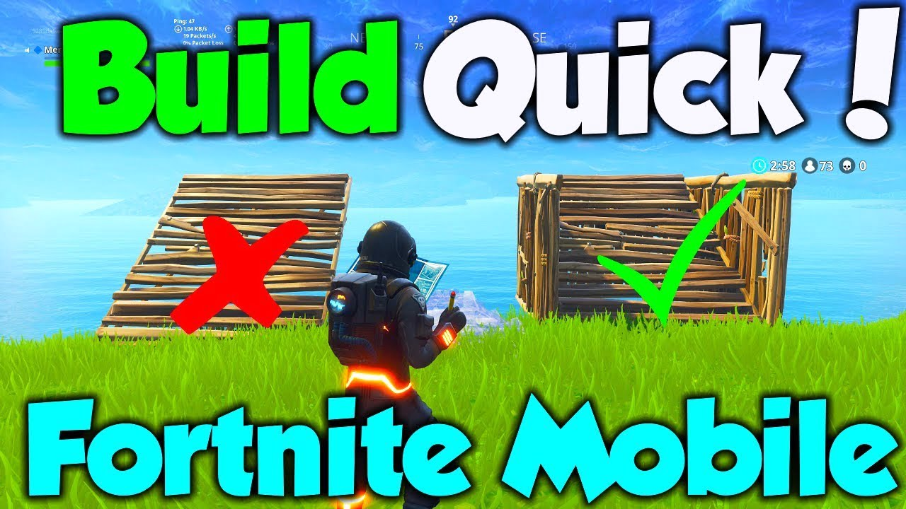 How to Build fast in Fortnite Mobile
